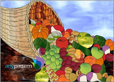 Vegetables Stained Glass Patterns