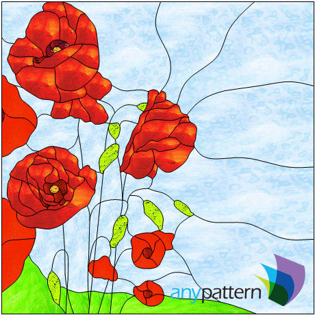 Flowers Stained Glass Patterns