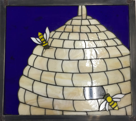 Bee Hive Stained Glass Window