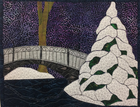 Winter in the Park Final Applique Example