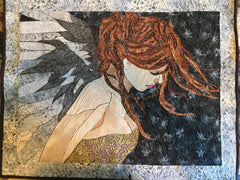 finished angel applique by Sonya Fetch