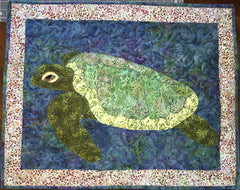 Finished Sea Turtle Applique by Pete