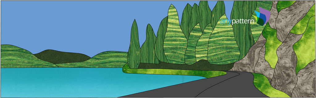 The Way Home Applique Pattern Crescent Lake