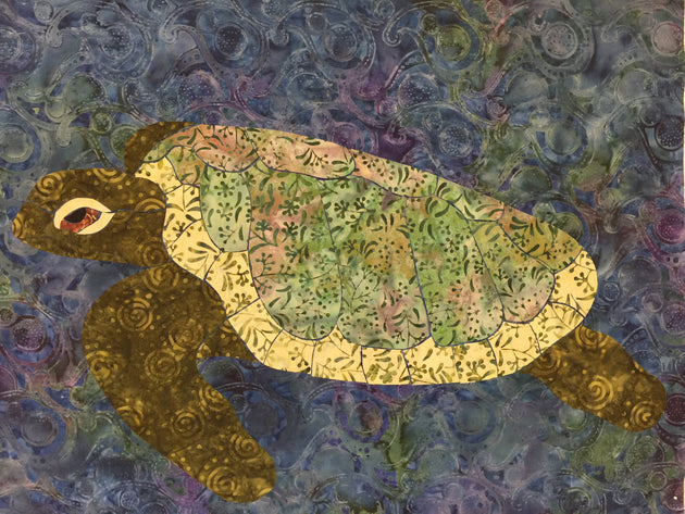 Sea Turtle Applique by Anita Lewis