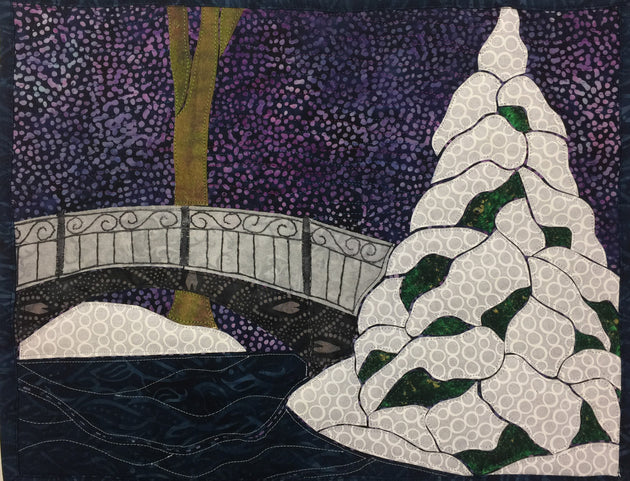 Finished Applique Quilt Example of Winter in the Park