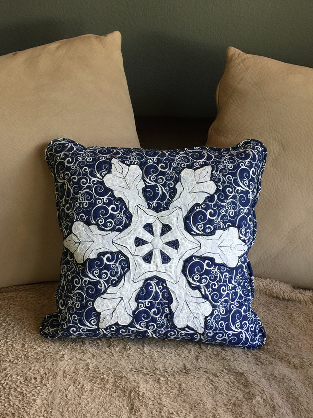 Snowflake Applique Pillow Example
