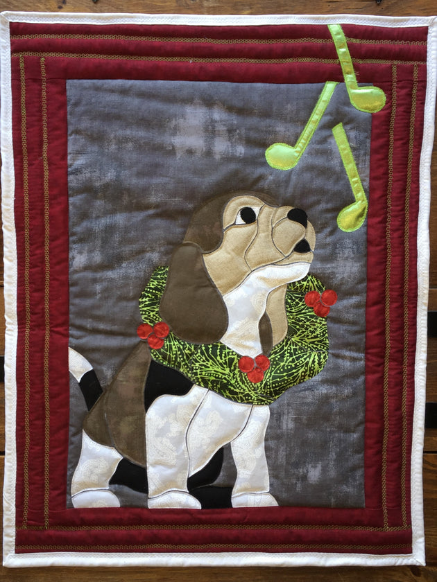 Christmas Puppy Applique Example by Sonya Fetch