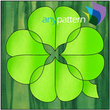 4-Leaf Clover Quilt Applique Pattern