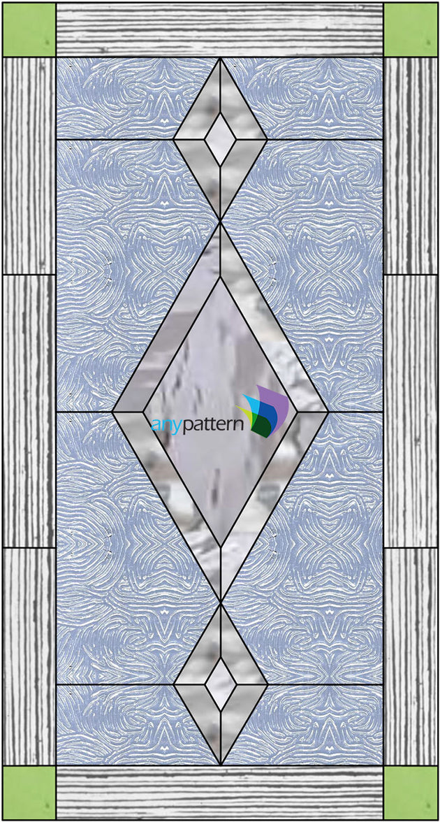 Three Bevel Cabinet Stained Glass Pattern