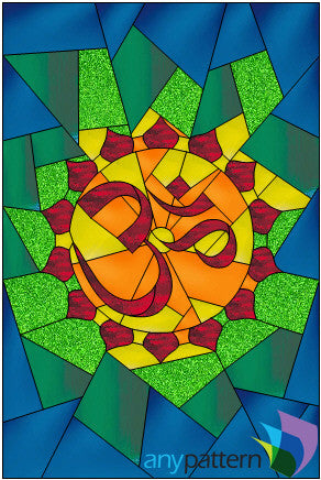 AUM stained glass pattern