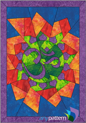 Aum or Om Applique Quilt Pattern