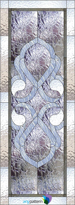 Abstract Cabinet Stained Glass Pattern