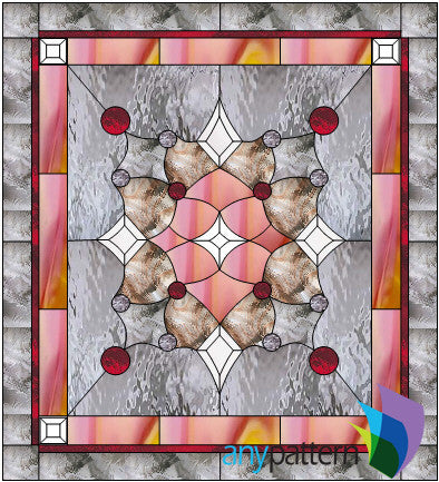 Abstract with Bevels stained glass pattern