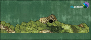 Alligator Swimming Applique Quilt Pattern