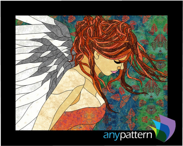 Angel applique quilt pattern