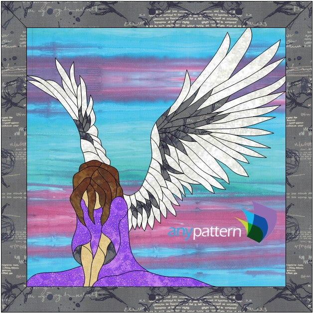 Angel Bowing Applique Quilt Pattern