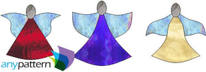 Angel Ornaments stained glass pattern