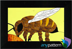 Bee stained glass pattern