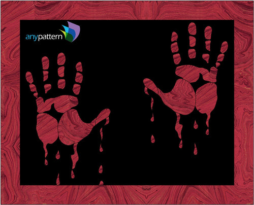 Halloween-Bloody Hands Applique Quilt Pattern