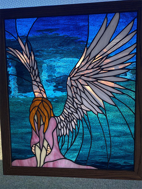 Bowing Angel Stained Glass Pattern
