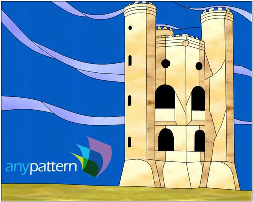 Broadway Tower stained glass pattern
