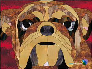 Bulldog Stained Glass Pattern