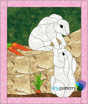 Bunny Love Quilt Applique Pattern