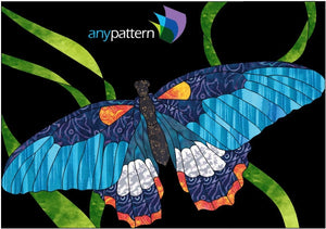 Butterfly Detail Applique Quilt Pattern