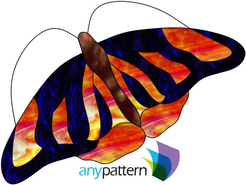 Butterfly Flyer Stained Glass Pattern