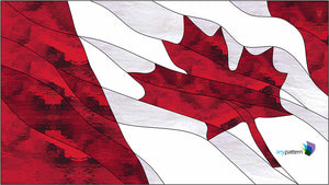 Canadian Flag Stained Glass Pattern