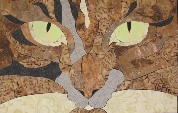 Carol Gearey Finished Cat Eyes Quilt Wall Hanging