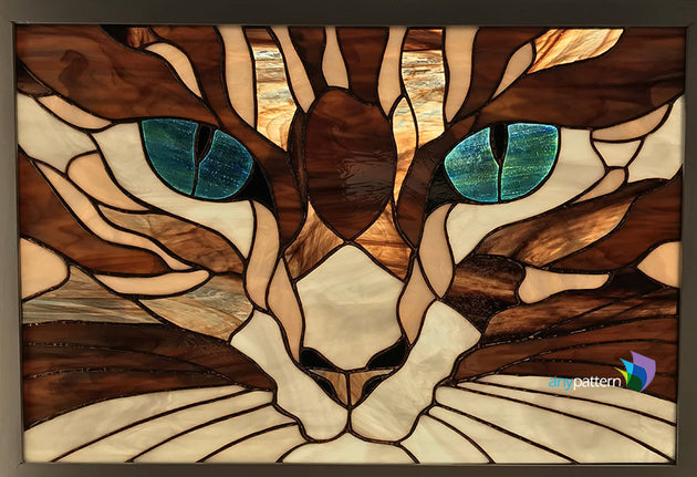 Finished Example Cat Eyes Stained Glass by Jeanne Krauss