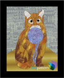Cat with Yarn Applique Quilt Pattern