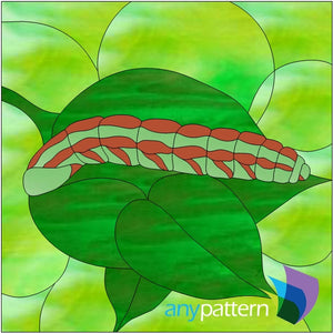 Caterpillar stained glass pattern