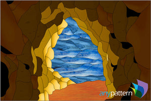 Cave stained glass pattern