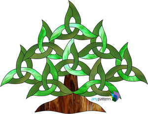 Celtic Tree Stained Glass Pattern