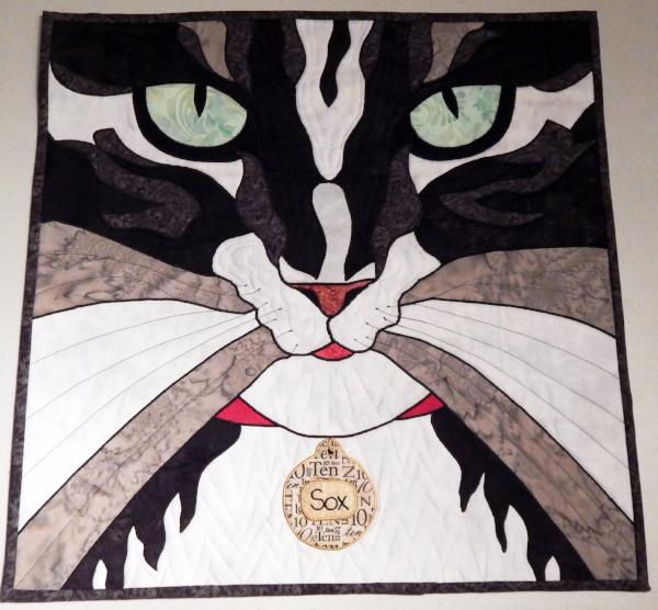 Cat Eyes Applique Quilt Example by Donna Makouske