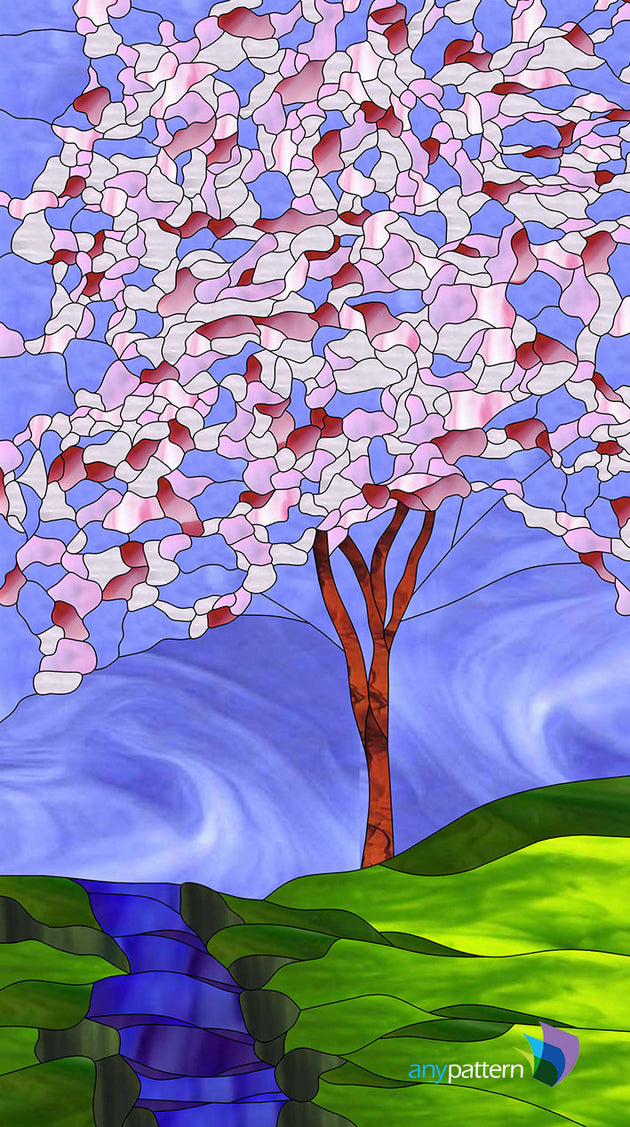 Cherry Tree Stained Glass Pattern