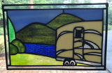 Camping at the Lake Stained Glass Sample by Cheryl
