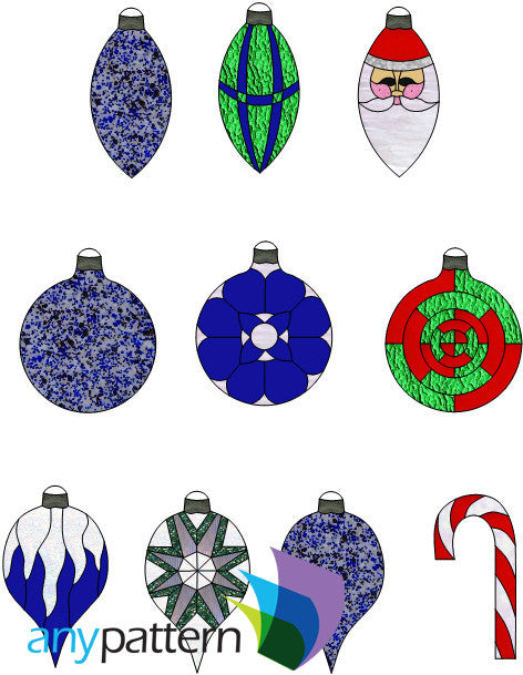 Christmas Ornaments 2014 stained glass pattern