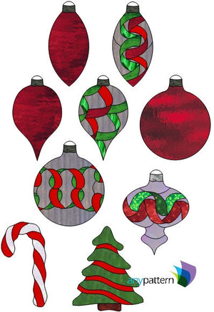 Christmas Stained Glass Patterns – anypattern.com