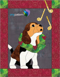Christmas Puppy Quilt Applique Pattern