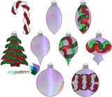 Christmas Ornament Ribbon Collection Quilt Applique Pattern