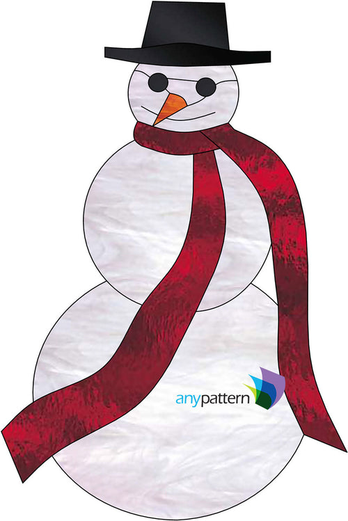Cool Snowman Stained Glass Pattern by AnyPattern