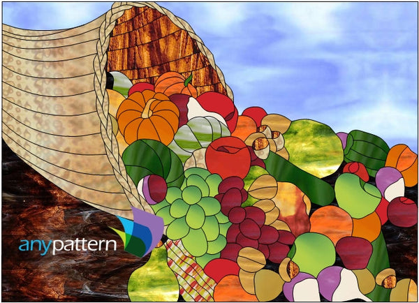 Cornucopia Stained Glass Pattern Anypattern Com