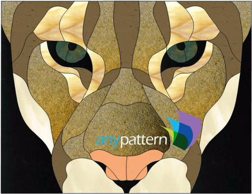 Cougar Stained Glass Pattern