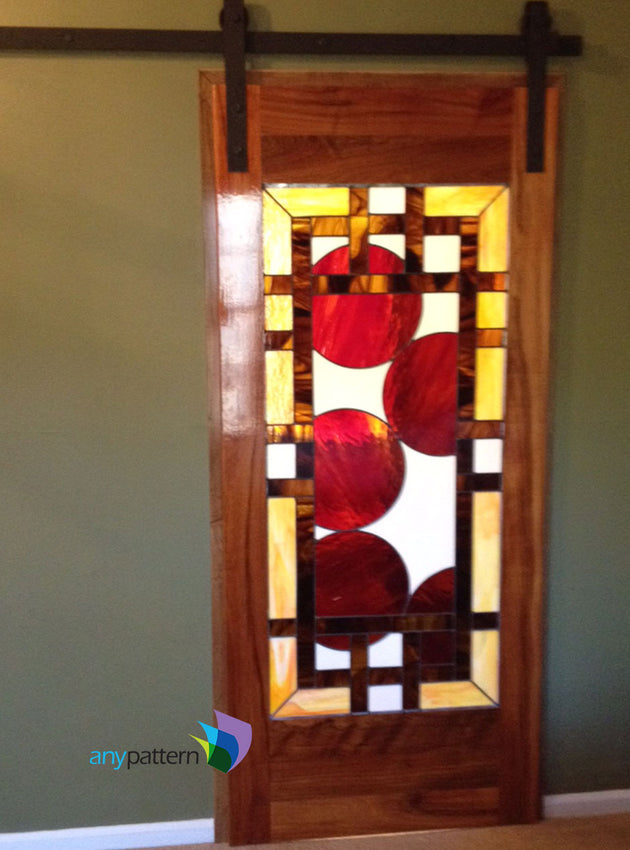 Craftsman with Circles Stained Glass Example by Sonya Fetch