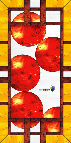 Craftsman With Circles Stained Glass Pattern Anypattern Com