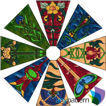 Craftsman Lamp Stained Glass Pattern