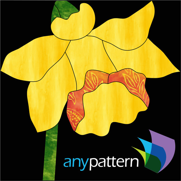 Daffodil applique quilt pattern
